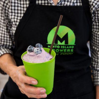 Blueberry milkshake.