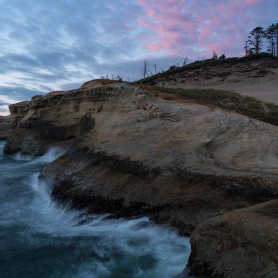 Sunset at Cape Kiwanda Beach  —Location: Cape Kiwanda Beach