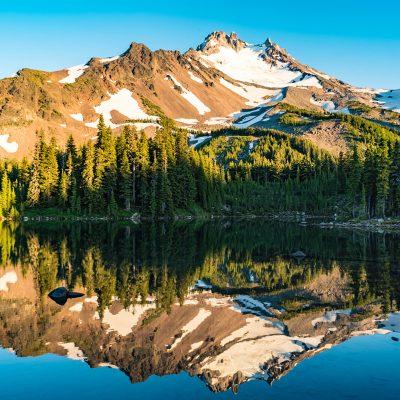 Golden hour at Scout Lake, Jefferson Park, Oregon  —Location: Mt. Jefferson Wilderness