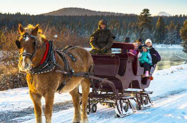 sleigh ride, sunriver stables