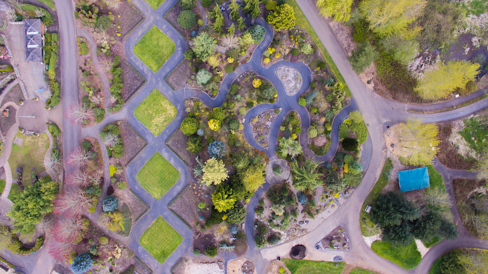 Above Oregon Gardens