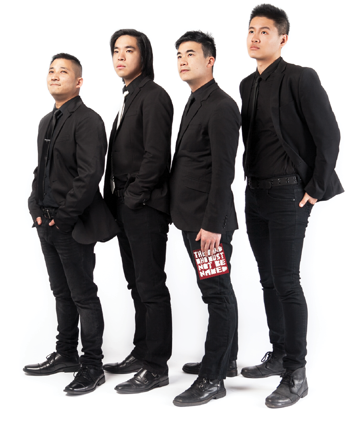 The Slants are made up of, from left, Yuya Matsuda, Ken Shima, Simon Tam and Joe X. Jiang.