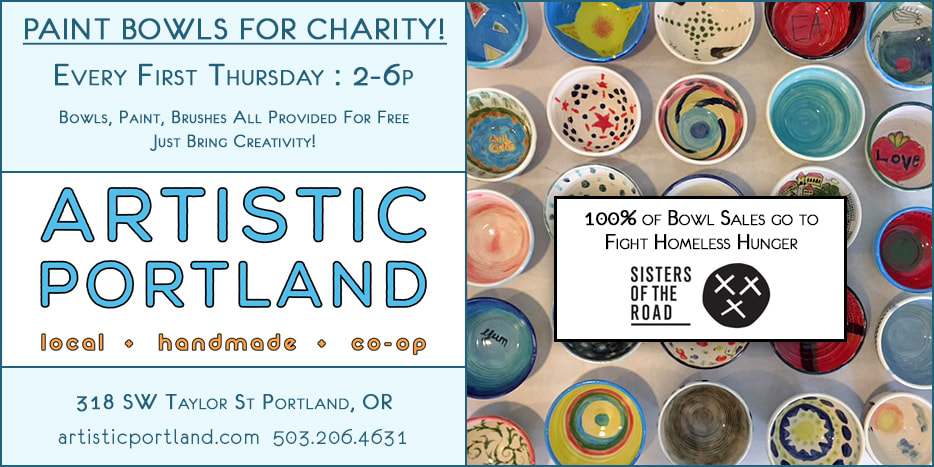 Artistic Portland Celebrates Local Beaches at First Thursday Art Walk 4-6 pm on July 5